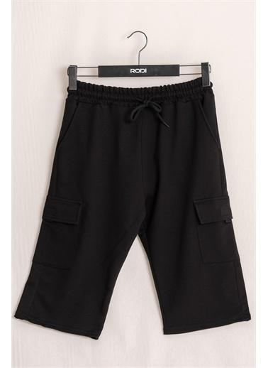 Rodi Jeans Erkek Kargo Cepli Penye Kapri RD21YE131565 Siyah